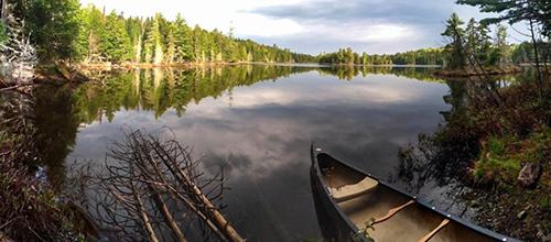 Ireland Pond on Scraggly Lake Public Reserved Land by Ryan Burton