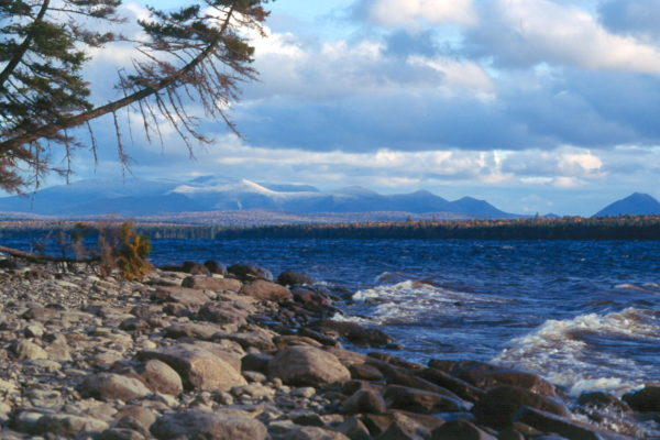 Katahdin Range from Chamberlain Lake-Fall public reserved land