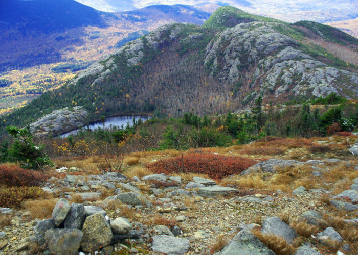 Tumbledown Mountain Pond by Linda Woods public reserved land