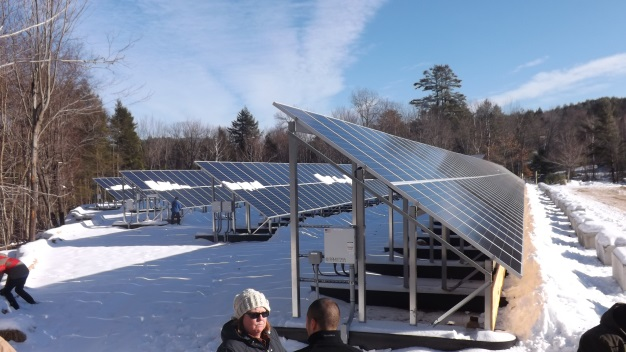 solar array at Mt. Abram ski area