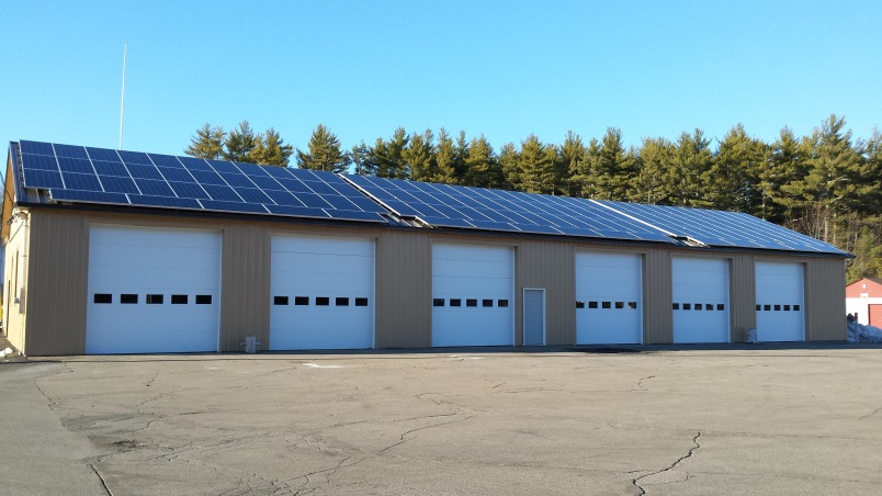 solar panels on fire station