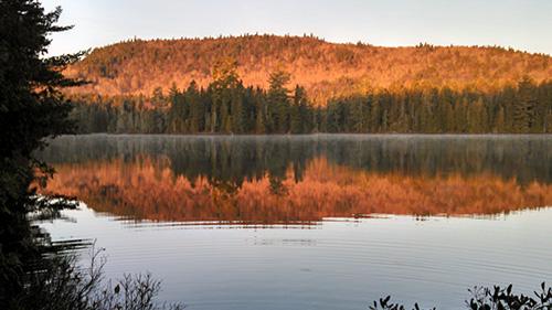 Sunrise at Island Pond