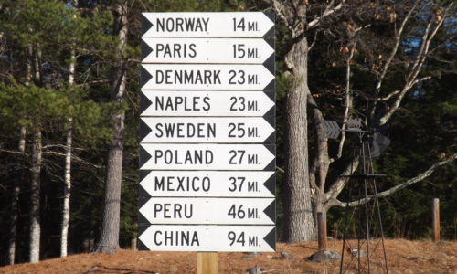 icon Maine countries road sign