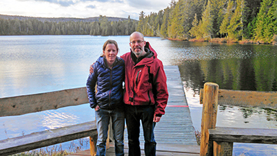 Pam and I at Island Pond