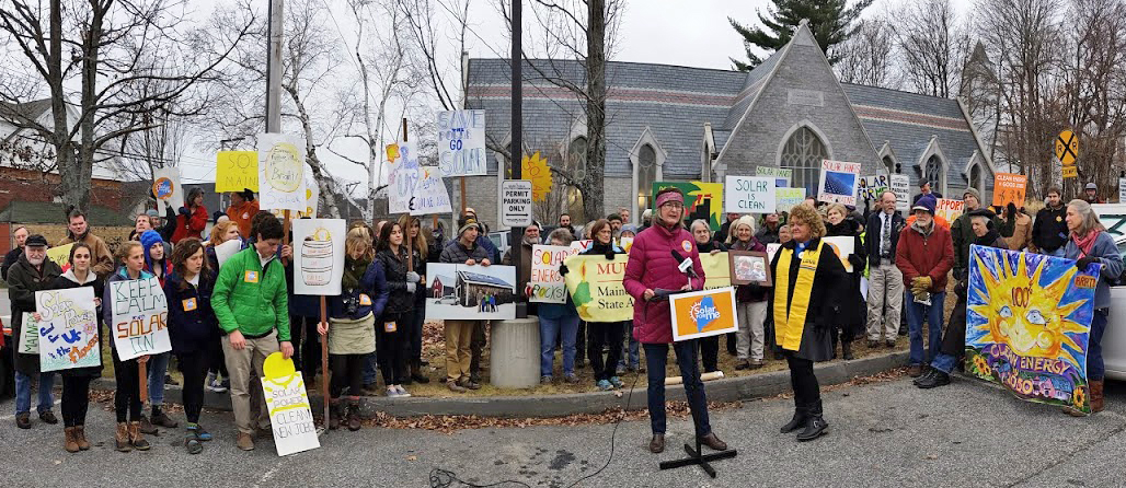 Mainers rally at PUC