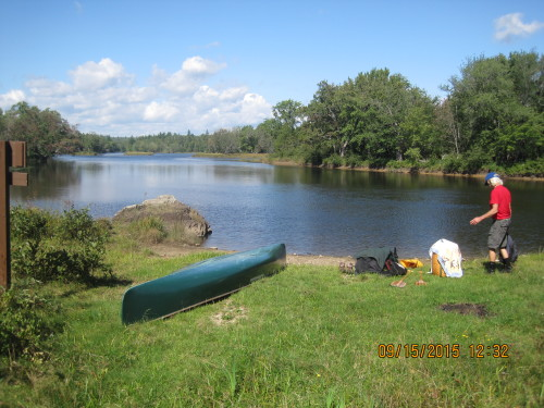 Preparing to portage on the East Branch