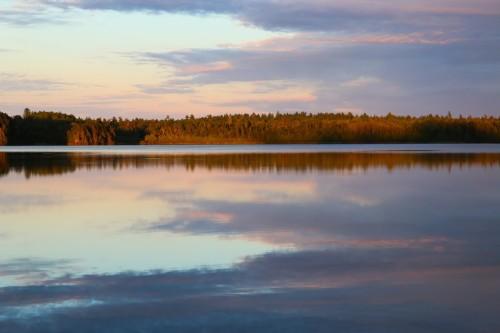 Sunset on Third Lake
