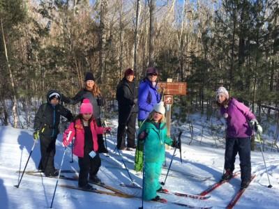 skiing KWW with kids