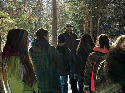 Clearing the Way: Palermo School Students Build Community Nature Trail