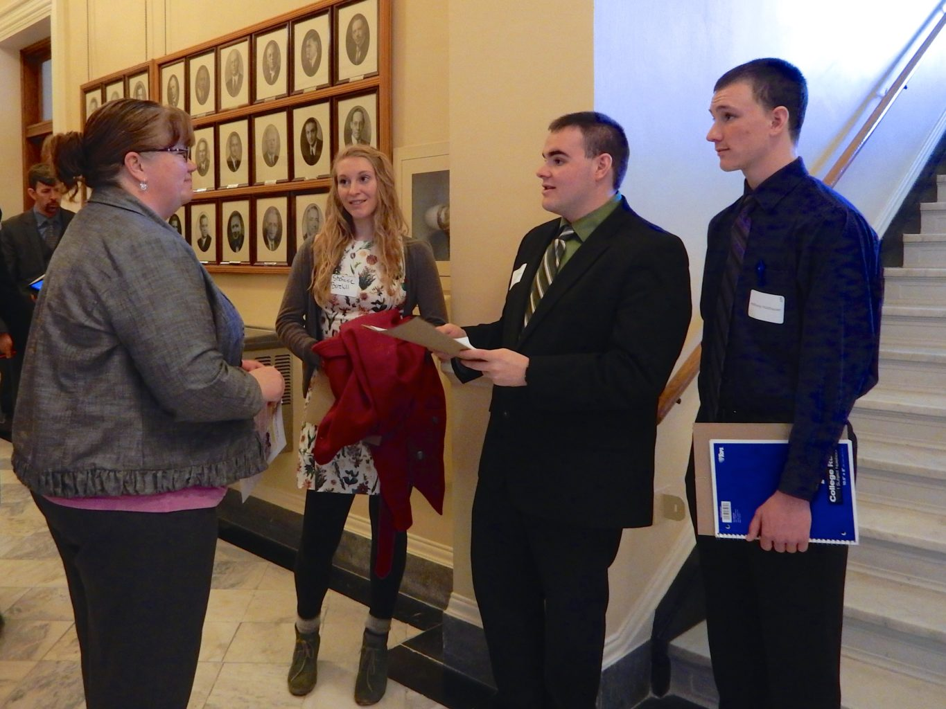 Unity students and State Rep. MaryAnne Kinney