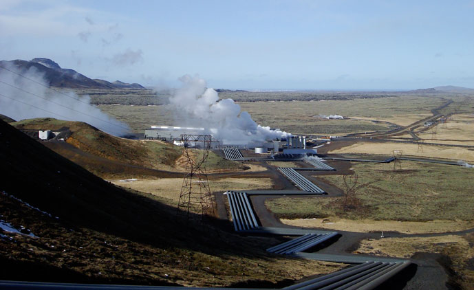 The Hellisheiði Power Station in Iceland. Wikipedia