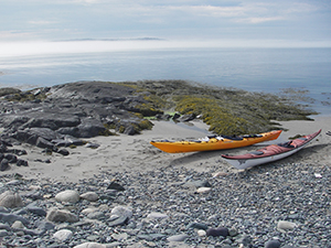Kayaks on Halifax Island by Emmie Theberge