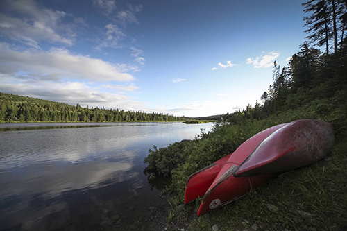 Boats on the Allagash, photo by Laurie Haag