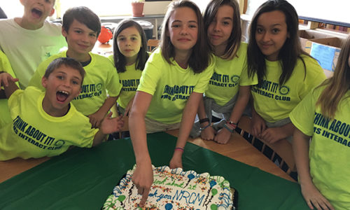 Freeport Interact Club thanks NRCM with cake