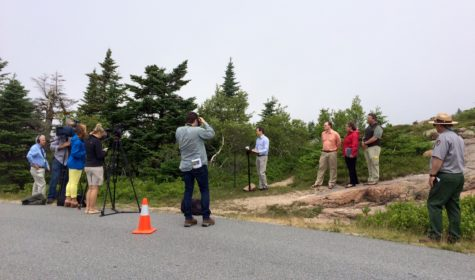 Clean Power Plan press conference at Acadia