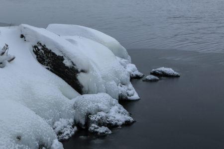 The freezing edge of Moosehead Lake