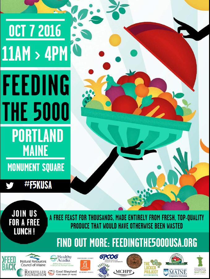 Feeding the 5000, Portland, Maine