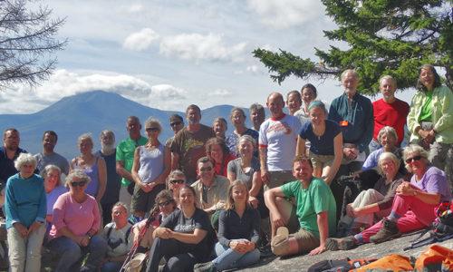 Group on top of Barnard Mountain