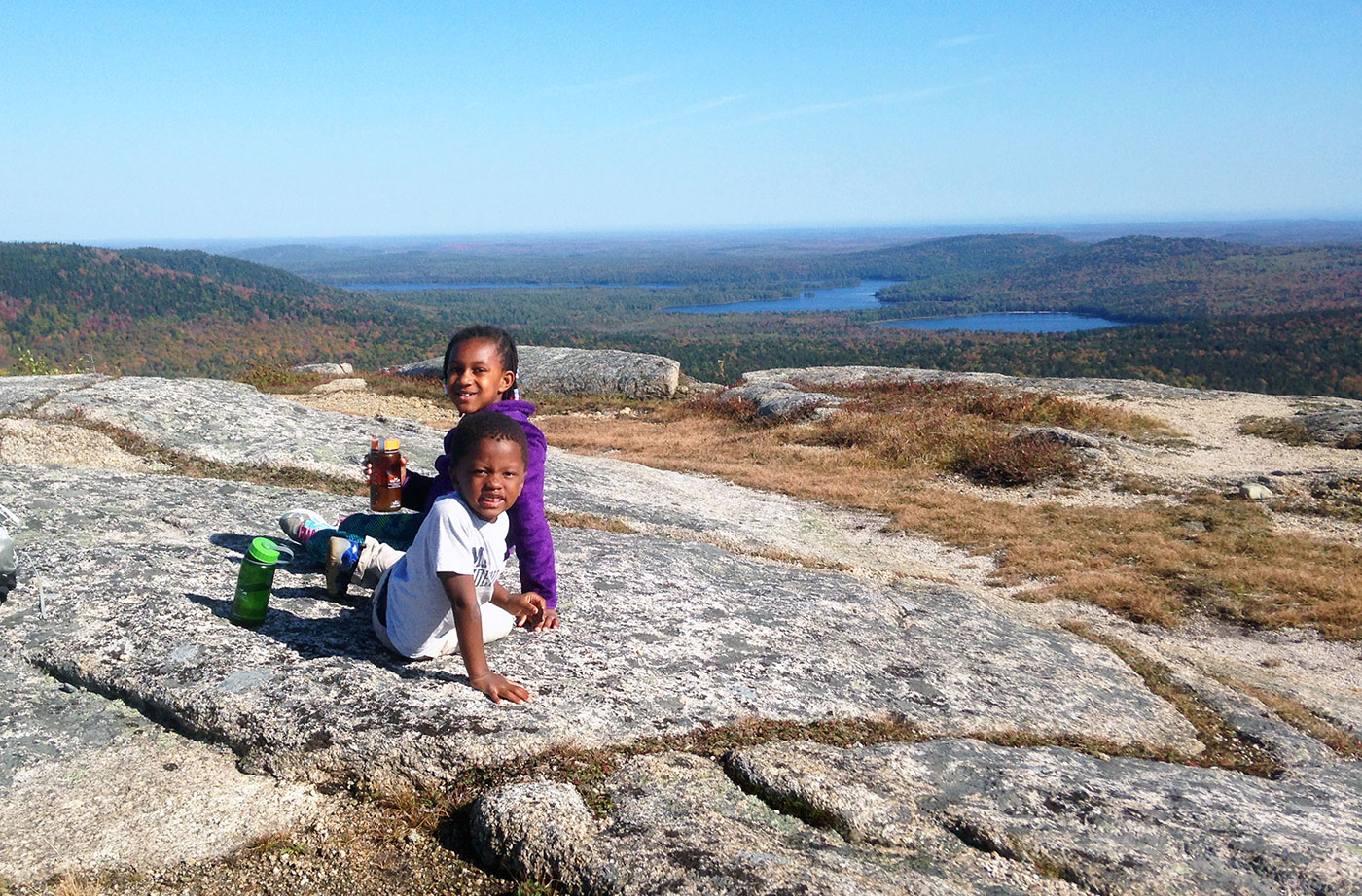 hiking on Donnell Pond PRL