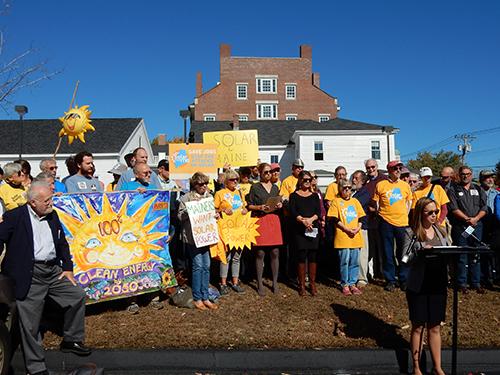 Solar net metering rally