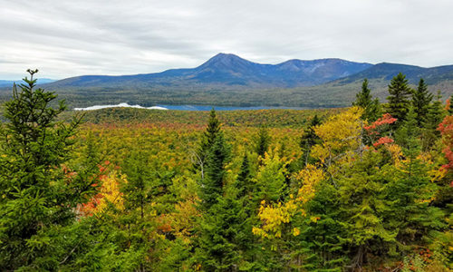 Katahdin Woods and Waters view from Barnard Mountain
