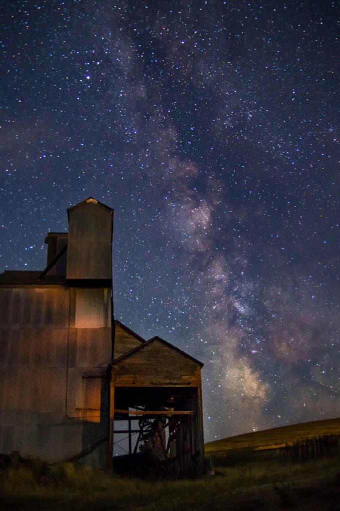 The Milky Way from the Palouse near Moscow, ID. Photo by Marie Glynn. 2016. All rights reserved.