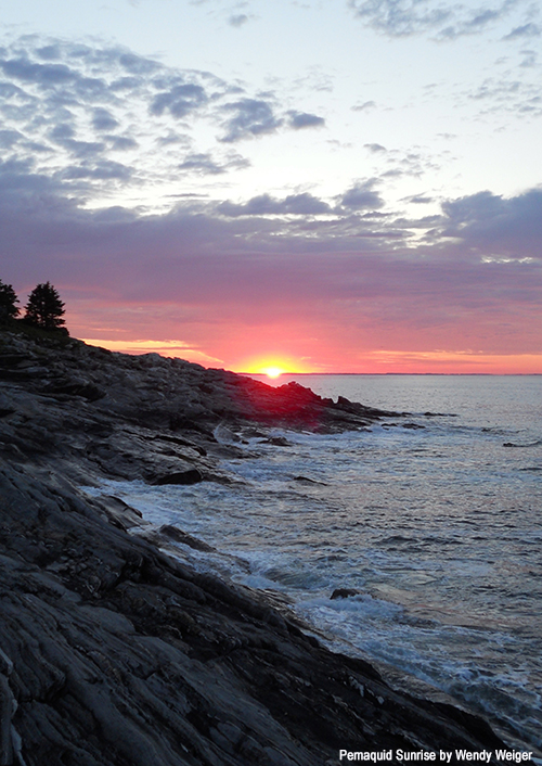 Pemaquid sunrise by Wendy Weiger