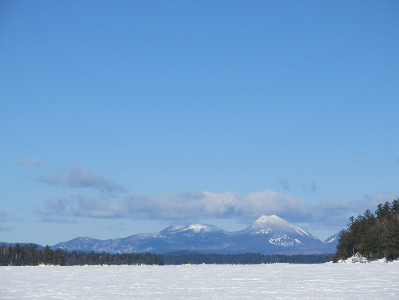 Doubletop Mountain in Baxter State Park, February 2017