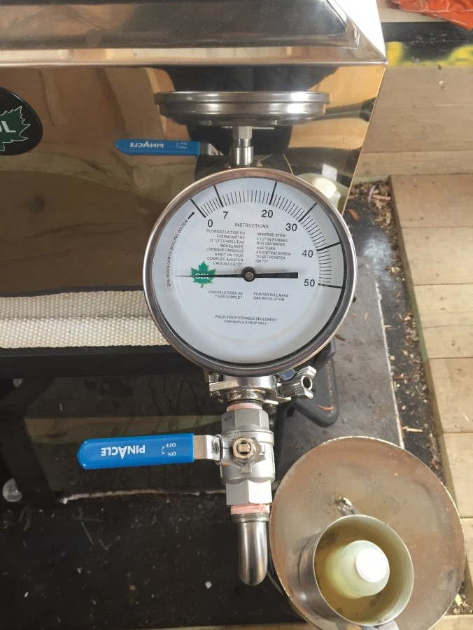 gauges on syrup equipment