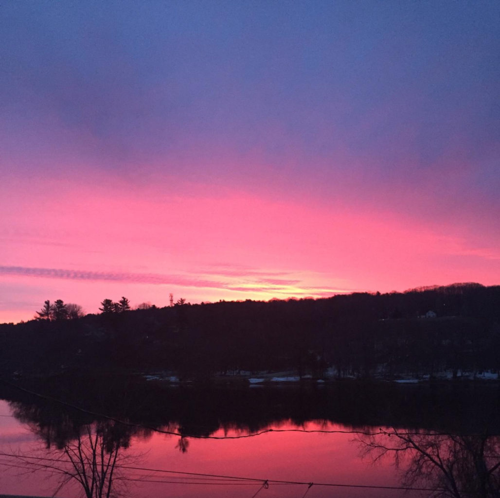 Sunrise over Kennebec by Susan Adams