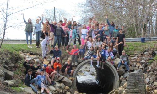 St. George students celebrate returning alewives