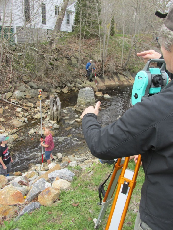 students surveying