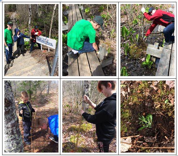 collage of Deer Isle-Stonington science students
