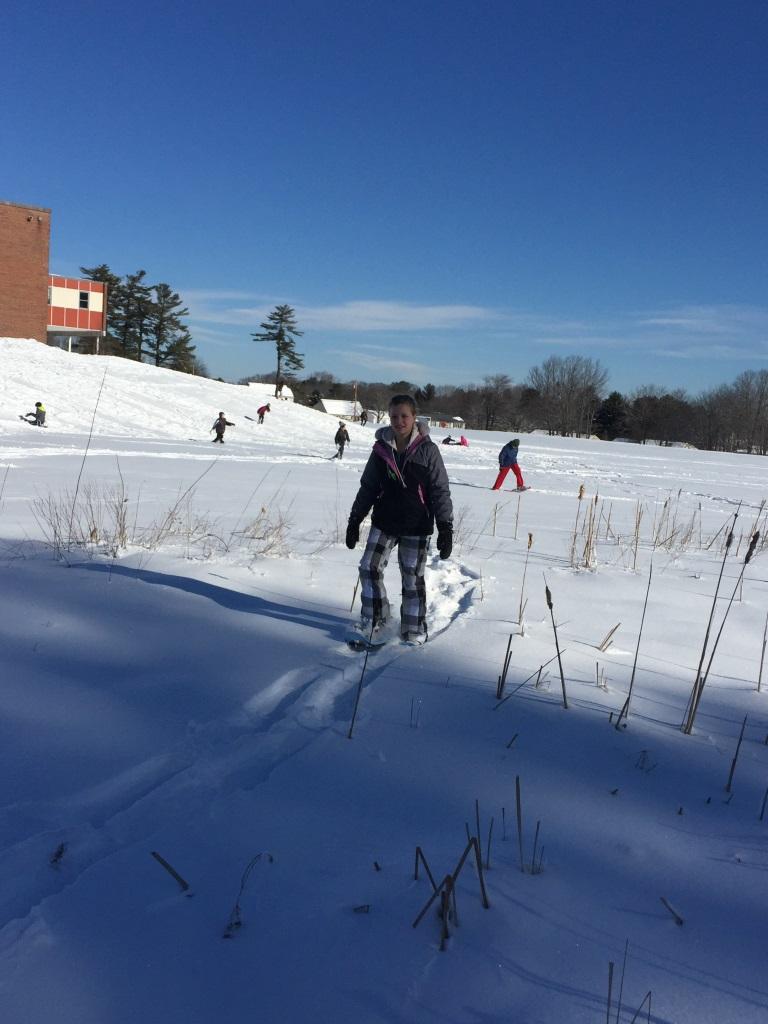 Memorial Middle School students in winter