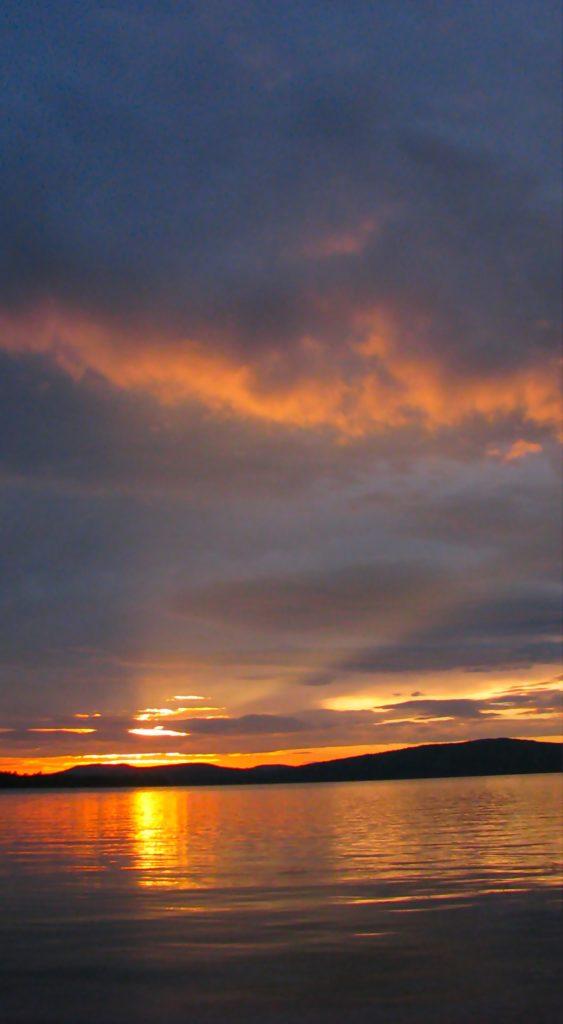 Sunrise Squall Line- Flagstaff Lake (Round Barn Campsite) Phil Poirier