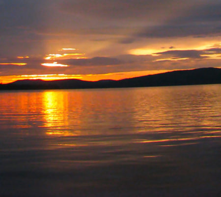 Sunrise Squall Line- Flagstaff Lake cropped