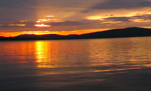 Sunrise Squall Line- Flagstaff Lake cropped