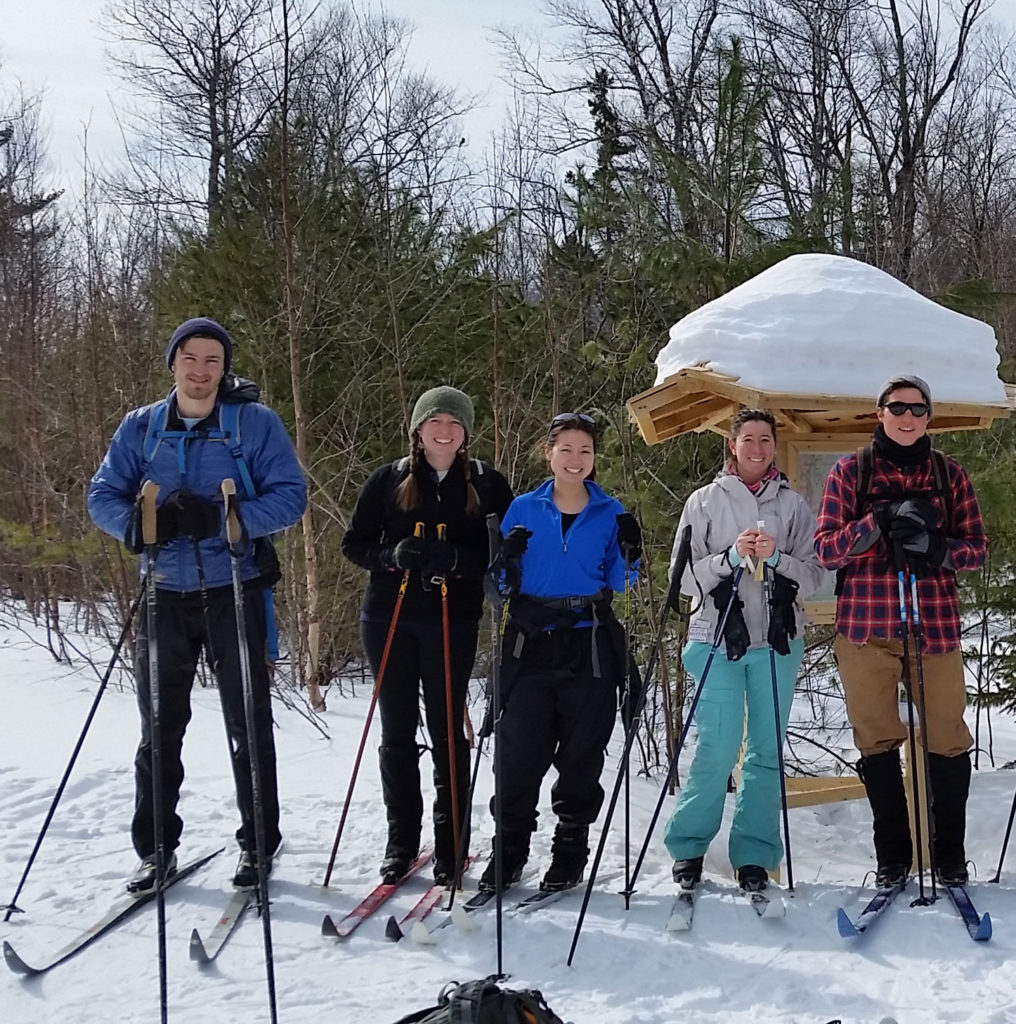 cross-country skiing with NRCM Rising