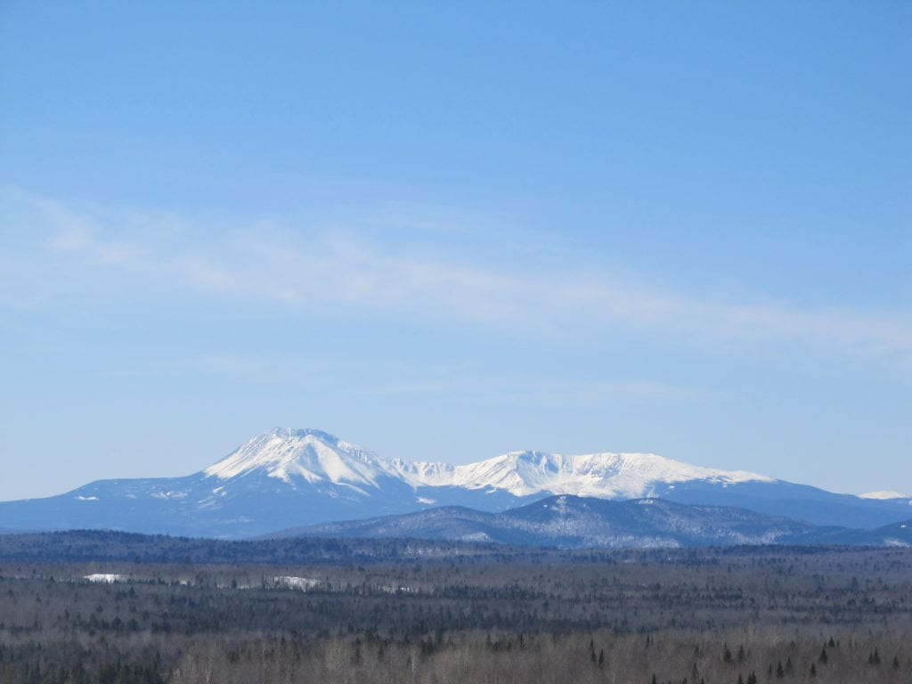 View of Katahdin from Patten