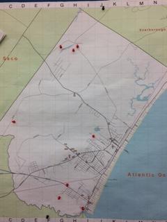 Trail maps at Loranger Memorial School