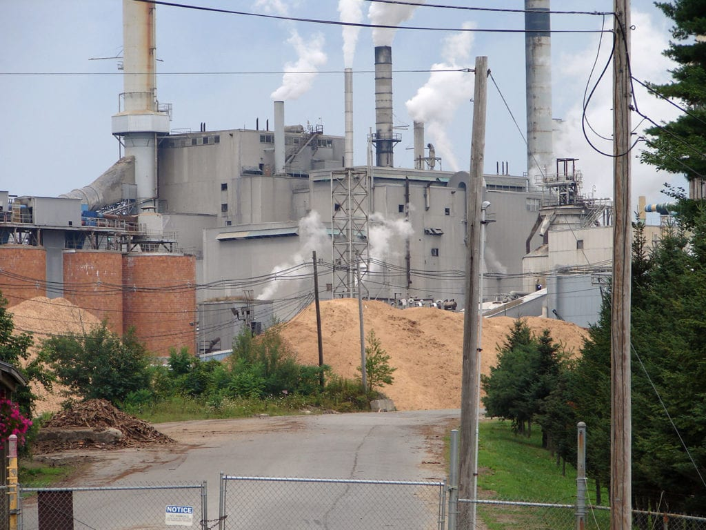 Paper mill in Jay, Maine