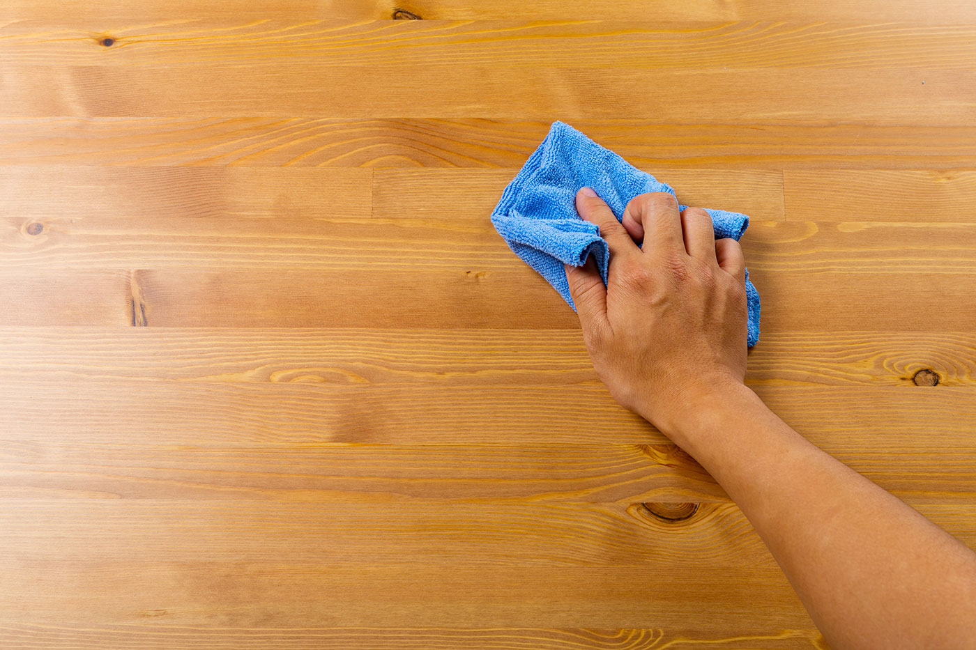 cleaning with rag