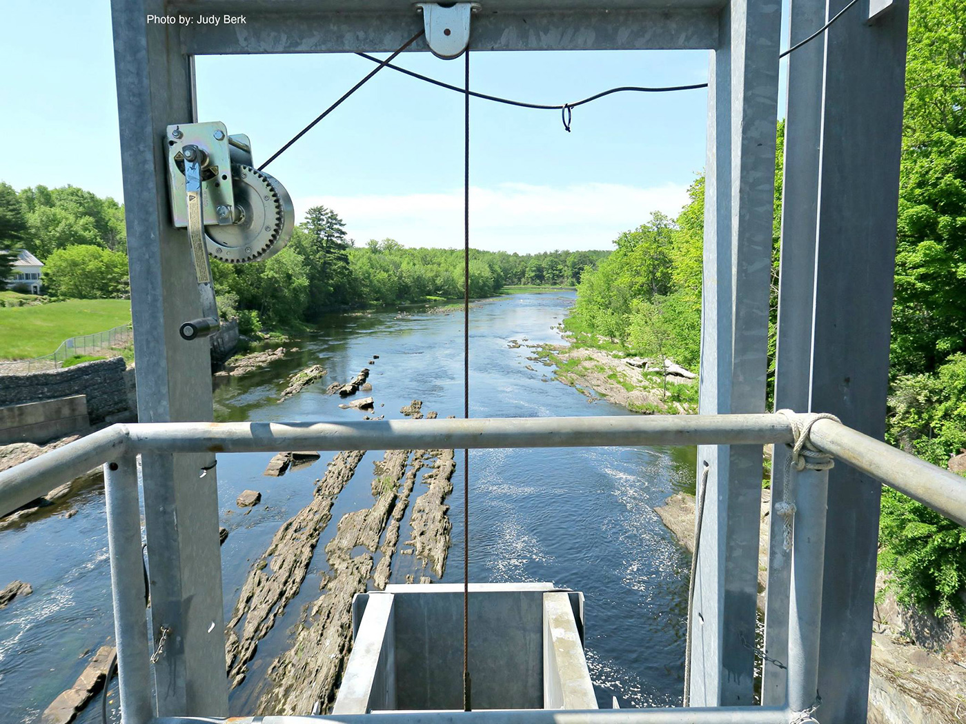 Fish elevator at Benton Falls. Photo by Judy Berk/NRCM