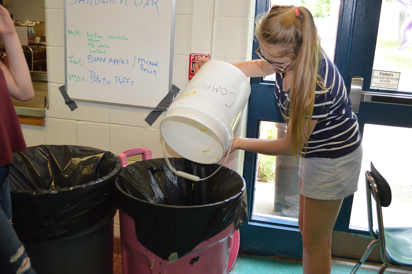Composting at Hall-Dale Middle School