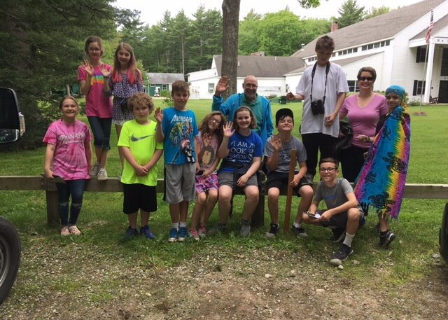 Loranger students with NRCM's Gabrielle Grunkemeyer
