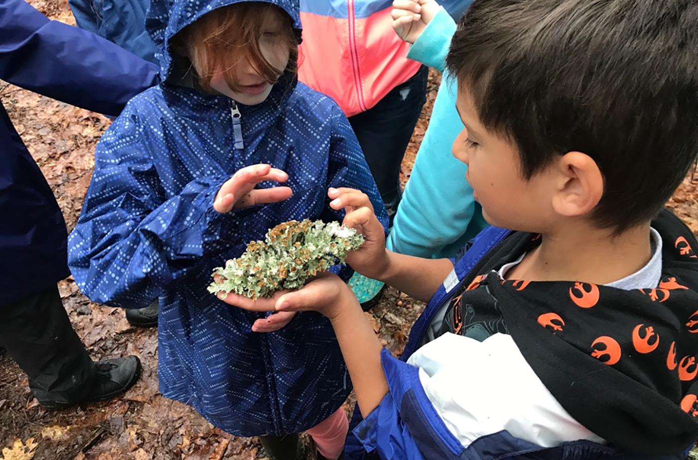 Teaching on Trails at Loranger Memorial School
