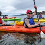 Sea kayaking with NRCM Rising