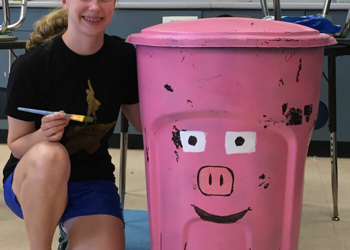Pink Piggy food receptacle