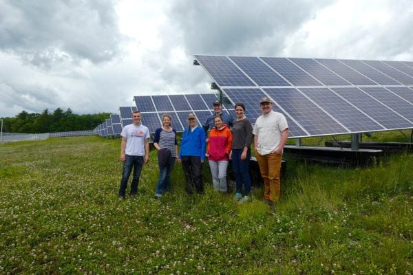 NRCM staff at Madison solar project
