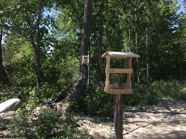 Athens students' birdhouse